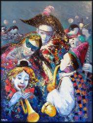 Carnaval (146 x 114) - Peinture contemporaine figurative - Creuse