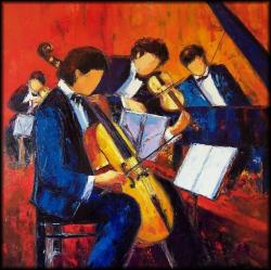 Quatuor (100 x 100)  - Peinture contemporaine figurative - Creuse